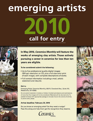Emerging Artist Call For Entry Ceramics Monthly Musing